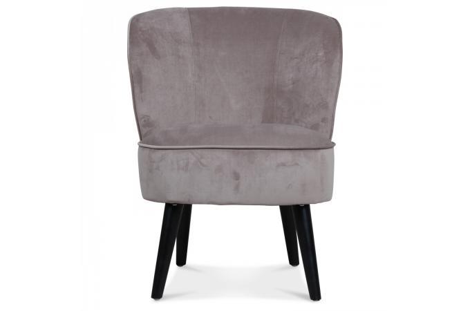 Fauteuil Crapaud Velours Taupe Lorraine Design Sur Sofactory