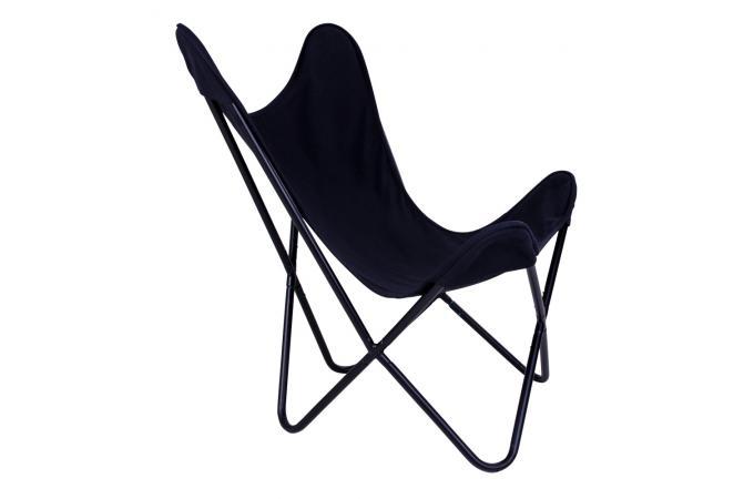 fauteuil papillon noir inside design sur sofactory. Black Bedroom Furniture Sets. Home Design Ideas