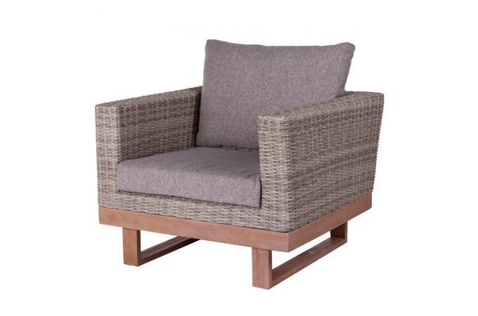 Fauteuil De Jardin Rotin Gris Giuseppe Design Sur Sofactory