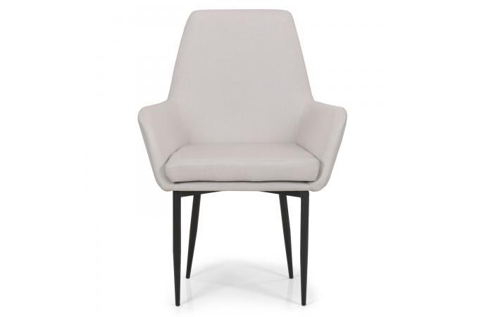 fauteuil design tissu beige coulico design sur sofactory. Black Bedroom Furniture Sets. Home Design Ideas