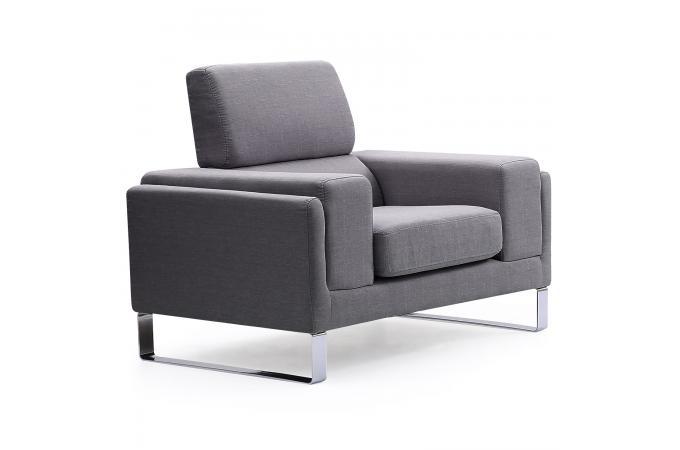 fauteuil design tissu gris clair stello design sur sofactory. Black Bedroom Furniture Sets. Home Design Ideas