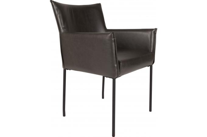 fauteuil en simili cuir vintage noir malion design pas cher sur sofactory. Black Bedroom Furniture Sets. Home Design Ideas