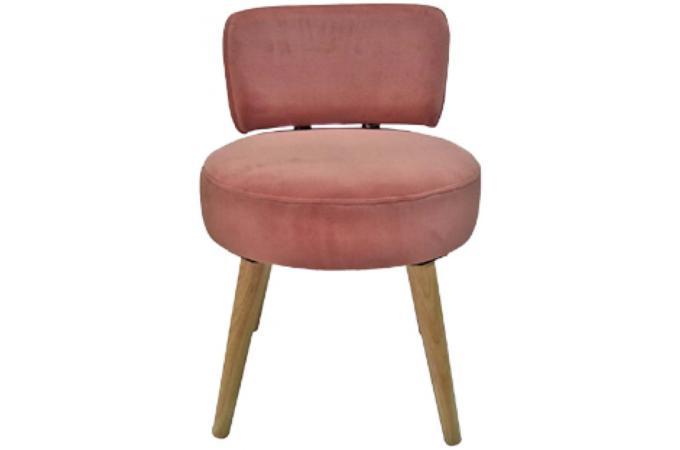 fauteuil en velours rose velvita design sur sofactory. Black Bedroom Furniture Sets. Home Design Ideas