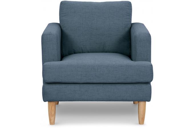 Fauteuil Tissu Bleu MOIRO design sur SoFactory