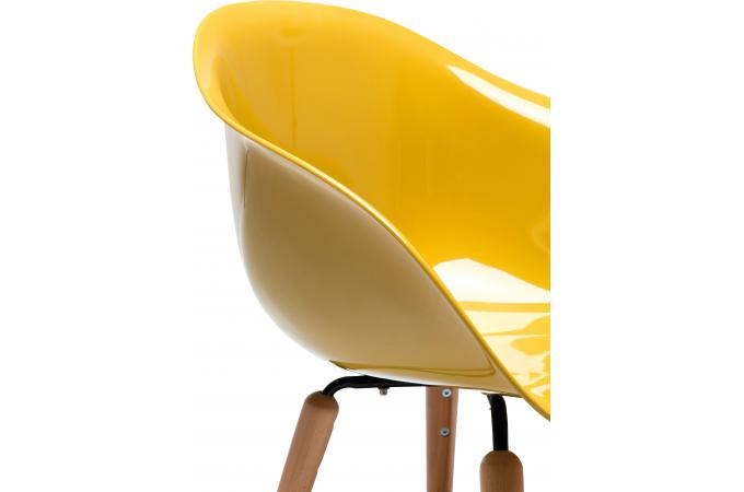 Chaise jaune moutarde accoudoirs agora design sur sofactory - Chaise jaune moutarde ...