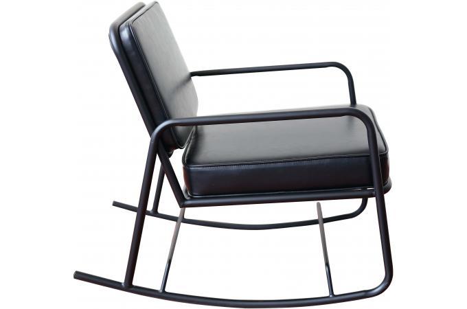 fauteuil bascule noir elegant fauteuil acapulco bascule noir jaune rouge achat vente chaise. Black Bedroom Furniture Sets. Home Design Ideas