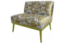 Fauteuil Oversize Angkor en Jacquard Or MARILYN Sofactory