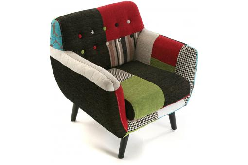 Fauteuil Patchwork Mullticolore CLARENCE SoFactory