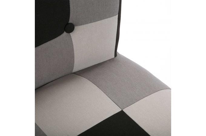 chaise patchwork noir blanc kankan design sur sofactory. Black Bedroom Furniture Sets. Home Design Ideas