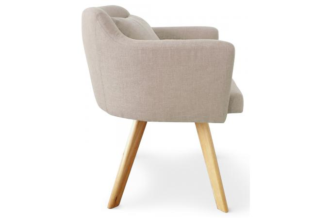 Fauteuil Scandinave Beige TEIKI Design Sur SoFactory - Fauteuil scandinave design