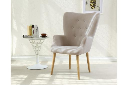 fauteuil scandinave beige dorig design sur sofactory. Black Bedroom Furniture Sets. Home Design Ideas