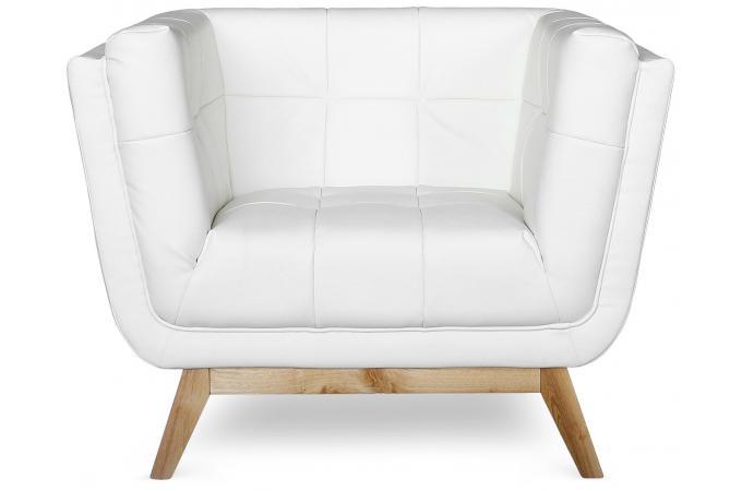 fauteuil capitonn blanc roela design pas cher sur sofactory. Black Bedroom Furniture Sets. Home Design Ideas
