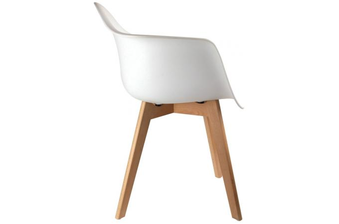 Chaise scandinave avec accoudoir blanc norway design sur sofactory - Chaise avec accoudoir scandinave ...