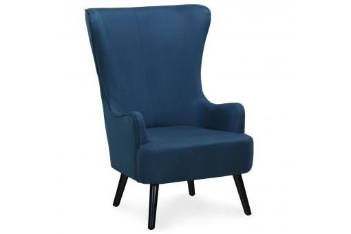 fauteuil scandinave haut dossier bleu forchat design sur sofactory. Black Bedroom Furniture Sets. Home Design Ideas