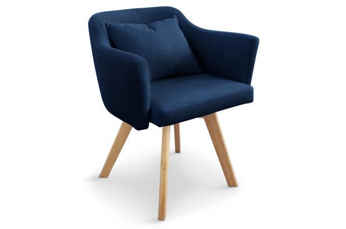 Fauteuil Scandinave bleu TEIKI design sur SoFactory