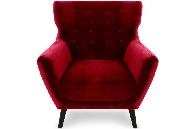 fauteuil scandinave velours rouge montana design en direct. Black Bedroom Furniture Sets. Home Design Ideas
