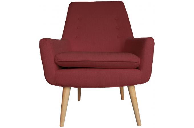 fauteuil scandinave en tissu capitonn rose fonc kapten design pas cher sur sofactory. Black Bedroom Furniture Sets. Home Design Ideas