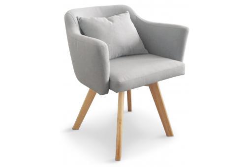 fauteuil scandinave gris teiki design sur sofactory. Black Bedroom Furniture Sets. Home Design Ideas