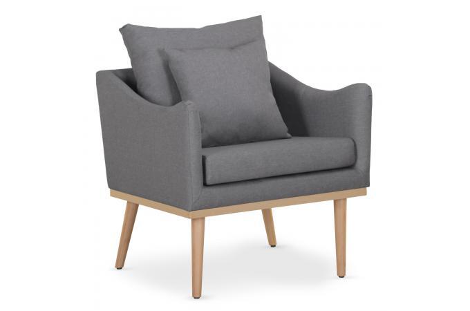fauteuil scandinave gris bastiane design sur sofactory. Black Bedroom Furniture Sets. Home Design Ideas