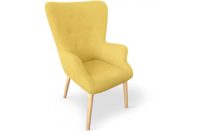 Fauteuil scandinave jaune reignier