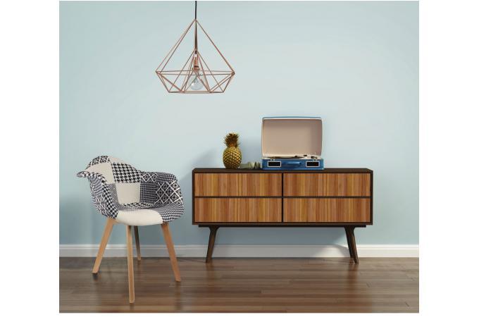 chaise scandinave avec accoudoir patchwork bicolore norway. Black Bedroom Furniture Sets. Home Design Ideas