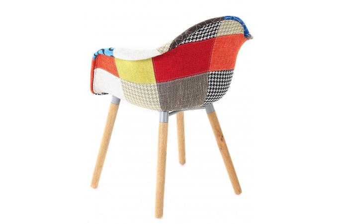 Chaise Scandinave Avec Accoudoirs Patchwork FORWAY