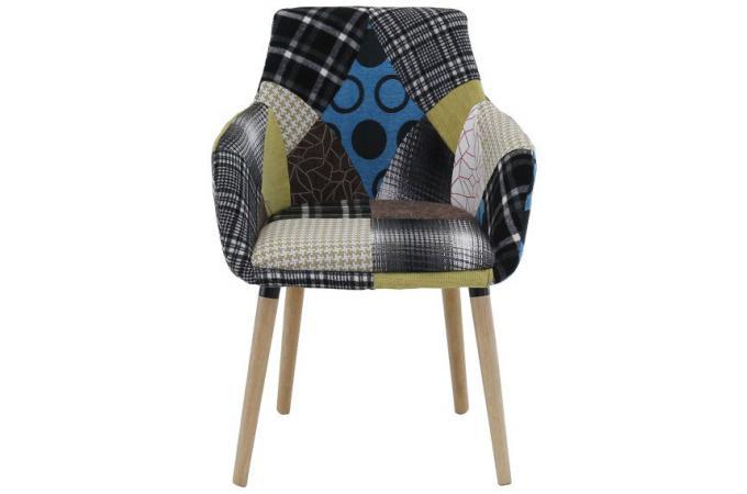 fauteuil scandinave patchwork lora design sur sofactory. Black Bedroom Furniture Sets. Home Design Ideas