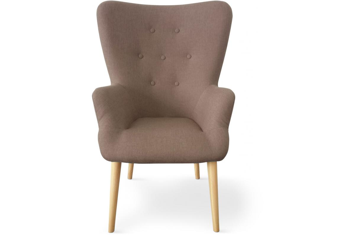 Fauteuil Scandinave Taupe REIGNIER SoFactory