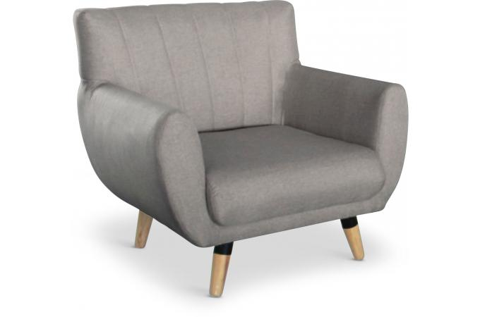 fauteuil scandinave taupe vollo design sur sofactory. Black Bedroom Furniture Sets. Home Design Ideas