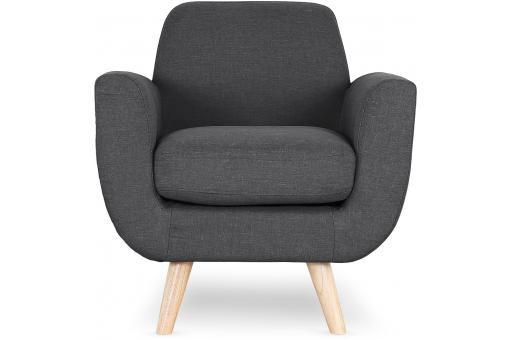 Fauteuil Scandinave Tissu Anthracite TRELL Gris ME190678-0000