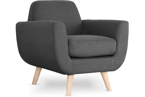 Fauteuil Scandinave Tissu Anthracite TRELL SoFactory