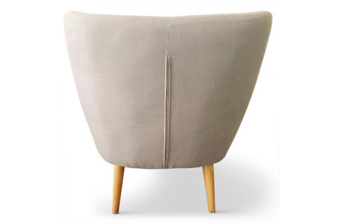 Fauteuil scandinave tissu beige lydum design en direct de - Fauteuil style scandinave pas cher ...