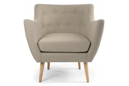 fauteuil scandinave tissu beige lydum design sur sofactory. Black Bedroom Furniture Sets. Home Design Ideas