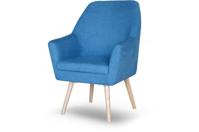 fauteuil scandinave tissu bleu anais design sur sofactory. Black Bedroom Furniture Sets. Home Design Ideas