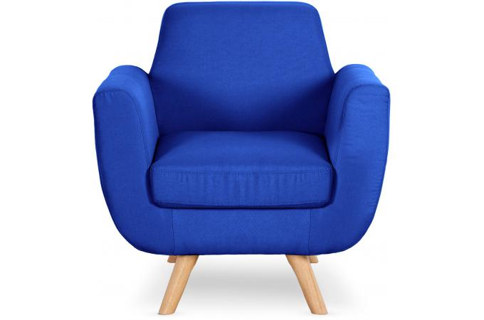 fauteuil scandinave tissu bleu royal sokoi design sur sofactory. Black Bedroom Furniture Sets. Home Design Ideas