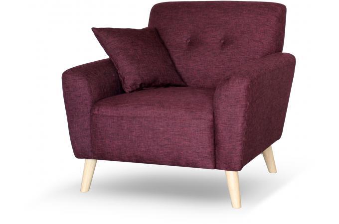 fauteuil scandinave tissu bordeaux kamiye design sur sofactory. Black Bedroom Furniture Sets. Home Design Ideas