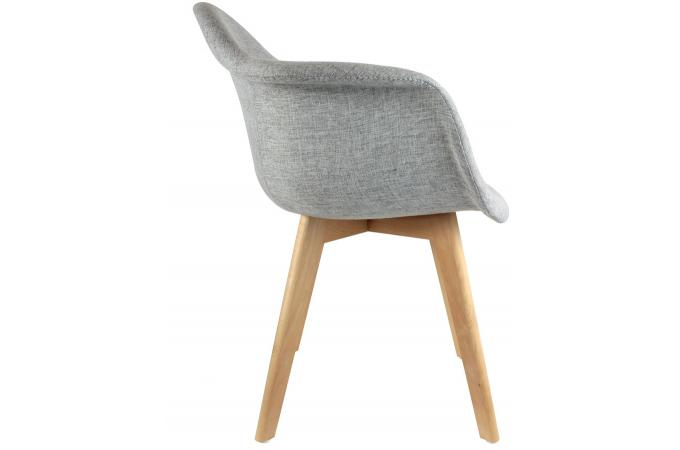 chaise scandinave avec accoudoir tissu gris norway - Chaise Scandinave