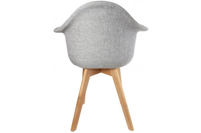 Chaise Scandinave Avec Accoudoir Tissu Gris Norway Design Sur Sofactory