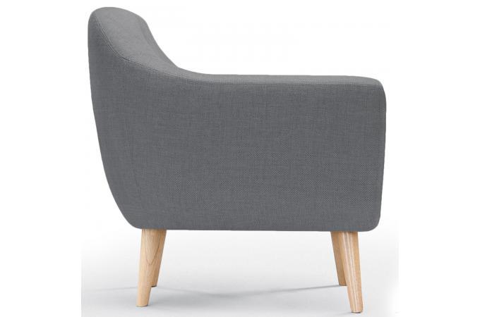 Fauteuil scandinave tissu gris antonio design sur sofactory - Fauteuil cabriolet gris ...