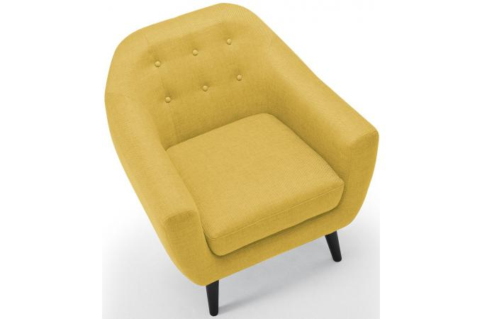 fauteuil scandinave tissu jaune antonio design sur sofactory. Black Bedroom Furniture Sets. Home Design Ideas