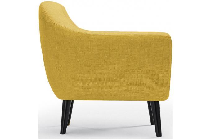 fauteuil scandinave tissu jaune antonio design sur sofactory. Black Bedroom Furniture Sets. Home Design Ideas