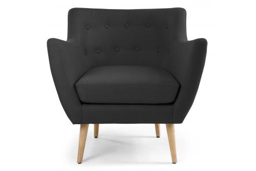 fauteuil scandinave tissu noir lydum design sur sofactory. Black Bedroom Furniture Sets. Home Design Ideas