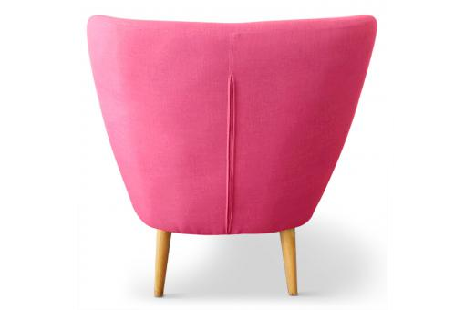 Fauteuil scandinave tissu rose LYDUM Rose ME185342-0000