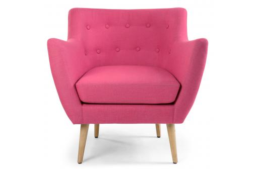 Fauteuil scandinave tissu rose LYDUM SoFactory