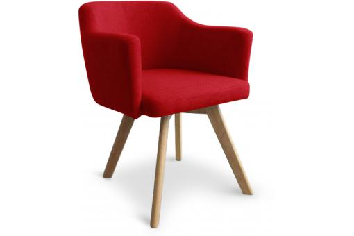 Fauteuil Scandinave Rouge TEIKI SoFactory