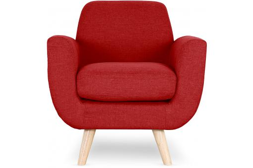 Fauteuil Scandinave Tissu Rouge TRELL ME190682-0000
