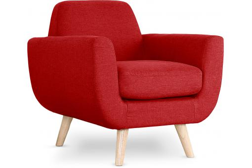Fauteuil Scandinave Tissu Rouge TRELL SoFactory