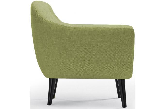 fauteuil scandinave tissu vert antonio design sur sofactory. Black Bedroom Furniture Sets. Home Design Ideas