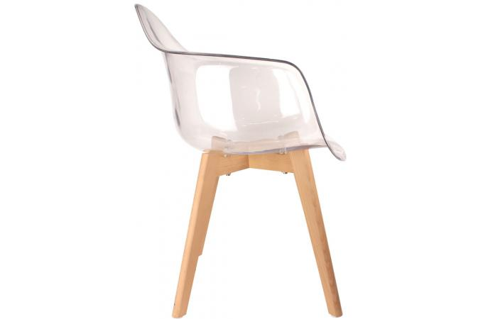 Chaise Scandinave Avec Accoudoir Transparent Norway Design Sur Sofactory