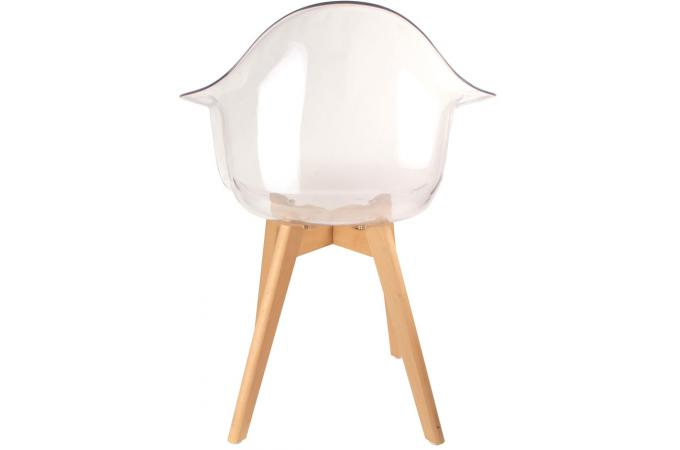 Chaise Scandinave Avec Accoudoir Transparent NORWAY
